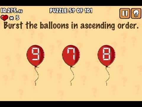 LEVEL 59 WALKTHROUGH What's my IQ ? (iPhone,iPod,iPad) IQ TEST SOLUTIONS