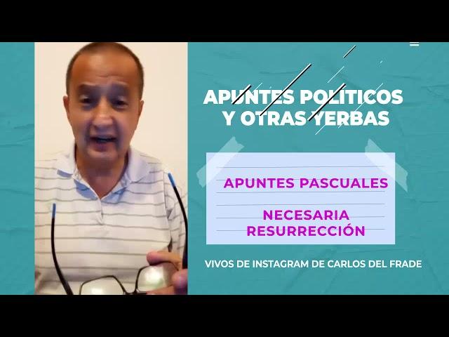 Carlos Del Frade: Apuntes pascuales   Necesaria resurrección