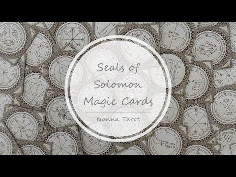 開箱  所羅門封印魔法卡 • Seals of Solomon Magic Cards // Nanna Tarot