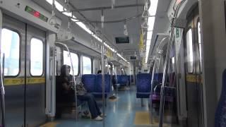 台湾鐵路管理局(TRA) EMU800 区間快車 車内の様子(樹林→板橋)