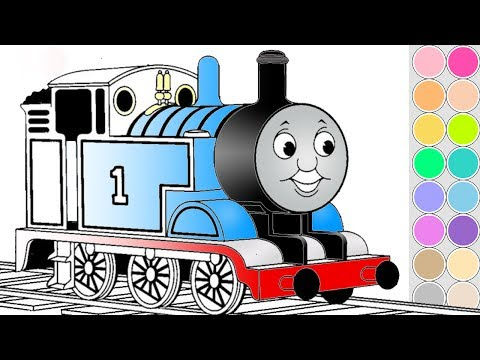 - Coloring Thomas Train For Kids. Drawing Animation Thomas And Friends.  Colouring Book Pages. - YouTube