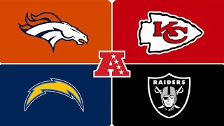 Predicting Chiefs, Raiders, Broncos, and Chargers 2019 schedules.