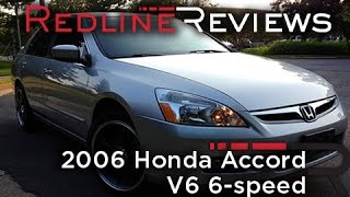 2006 Honda Accord V6 6-speed Review, Walkaround, Exhaust & Test Drive
