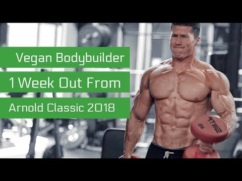 How I Eat/Train 1 Week Out | Chest Workout | Nimai Delgado Vegan IFBB Pro