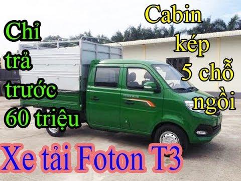 Xe Tải Foton Cabin Kép 810kg 5 Chỗ Ngồi - Thùng Lửng Euro 4
