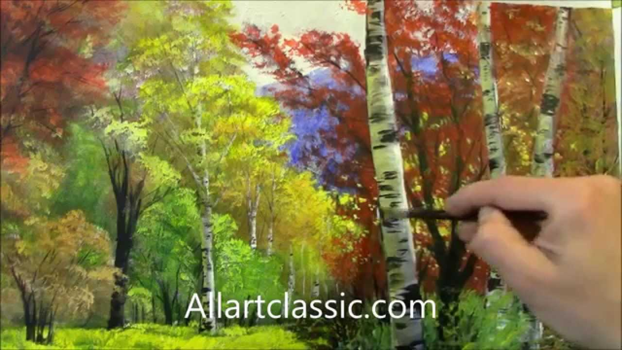 Landscape with River and Trees-Original Oil Painting - YouTube