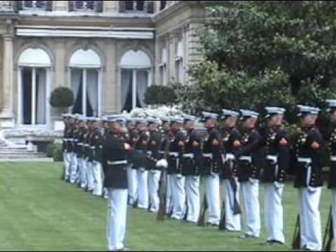United States Marine Corps Silent Drill Platoon in FRANCE