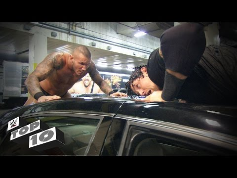 Superstars Getting Crushed on Cars: WWE Top 10