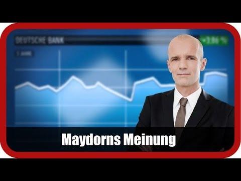 Maydorns Meinung: DAX, Dt. Bank, Volkswagen, Tesla, BYD, Millennial Lithium, JinkoSolar, Steinhoff