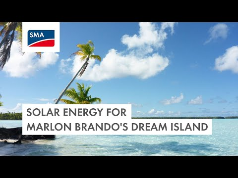 Solar Energy For The Island of Marlon Brando's Dreams