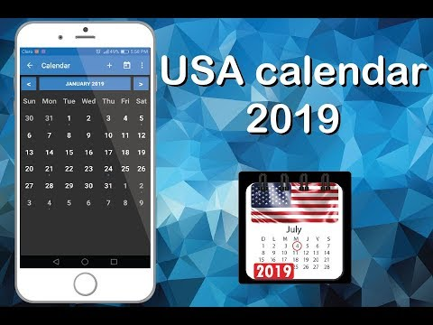 Calendar 2019 App Usa calendar 2019 with holidays, us calendar free   Apps on Google