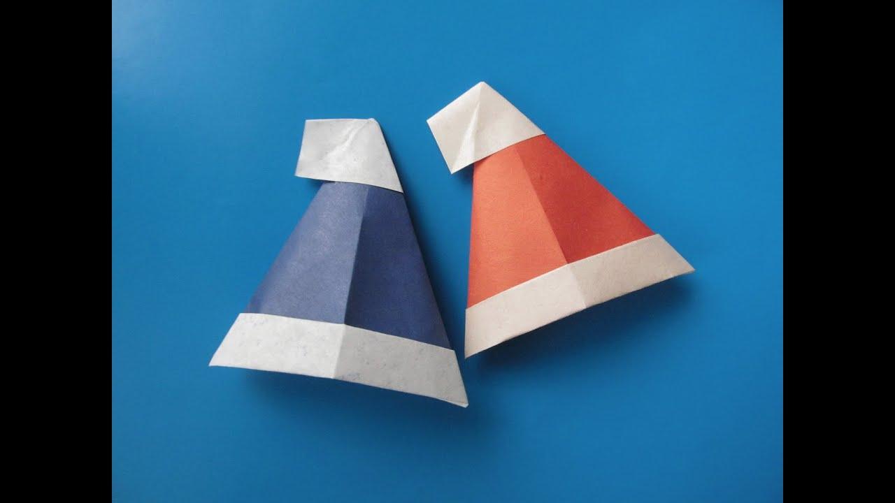 Как сделать оригами шапку фото 950