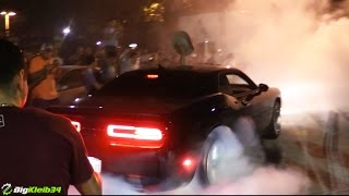 Most American Burnout EVER in Front of COPS!