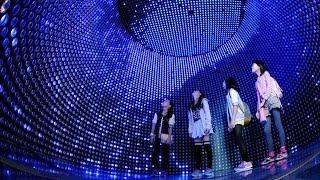 ニュートリノ観測「スーパーカミオカンデ」の模型展示