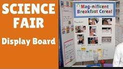 Setting up your Show-board for Science Fair
