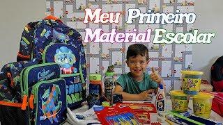 COMPRANDO PRIMEIRO MATERIAL ESCOLAR DO RAFAEL