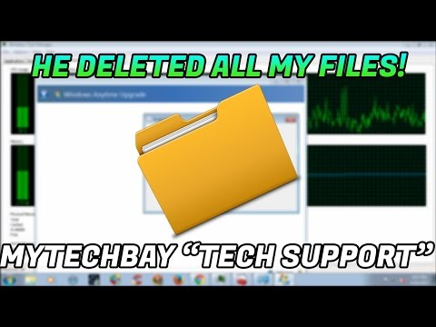 "TECH SCAMMER DELETS ALL MY FILES! ""mytechbay"" 