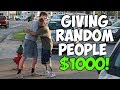 Giving Homeless People $1,000 (Not Clickbait)