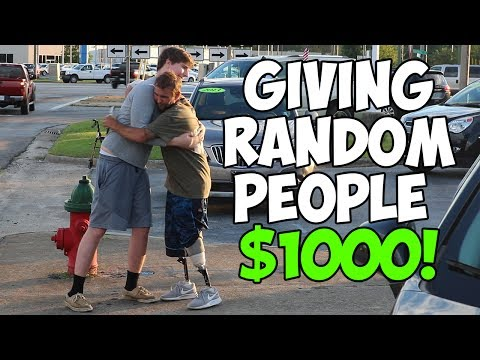 Thumbnail: Giving Homeless People $1,000 (Not Clickbait)