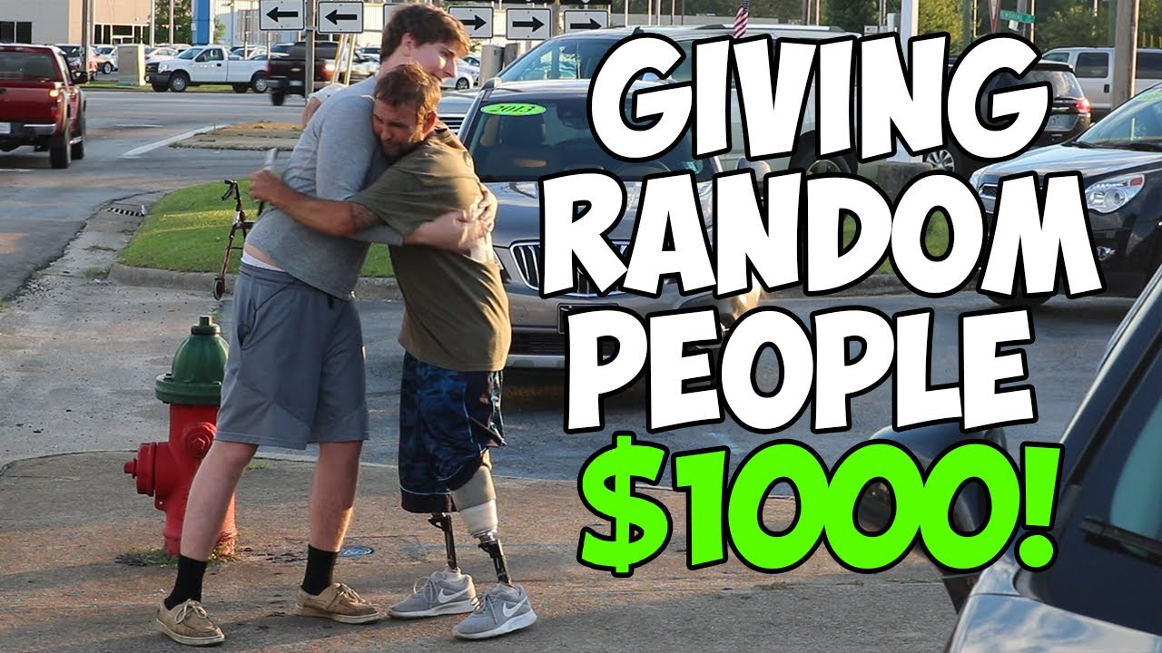 Giving Homeless People $1,000