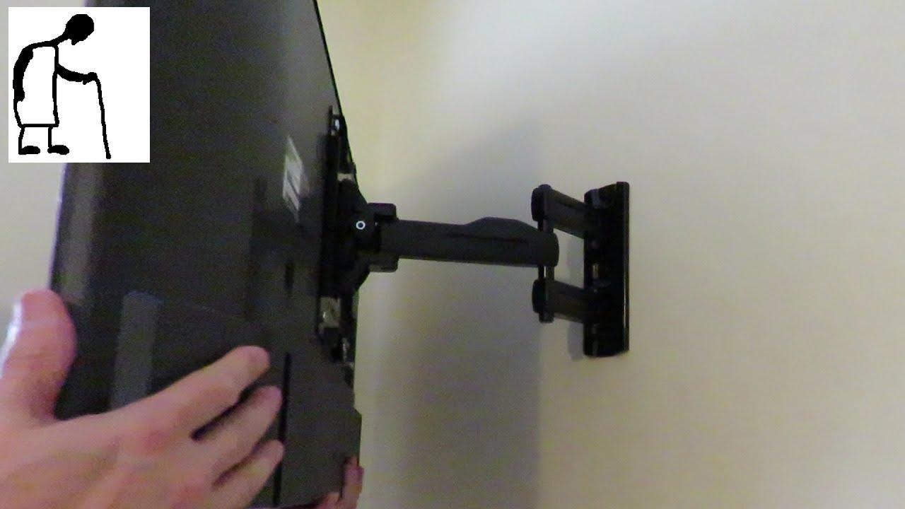 Tv Tilt And Turn Wall Bracket Sanus F215c Youtube