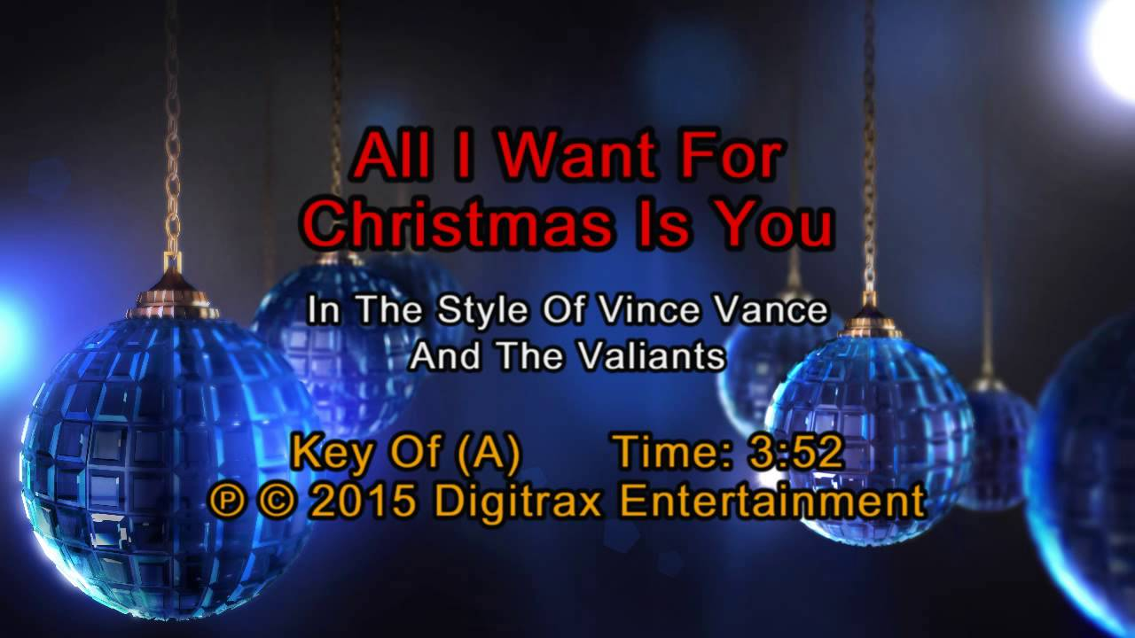 Vince Vance & The Valiants - All I Want For Christmas Is You ...