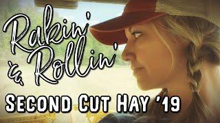 Raking and Baling Second Cut Hay