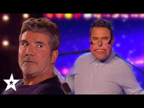 STRIPPING FOR SIMON | Hilarious Ventriloquist Audition On Britain's Got Talent | Got Talent Global