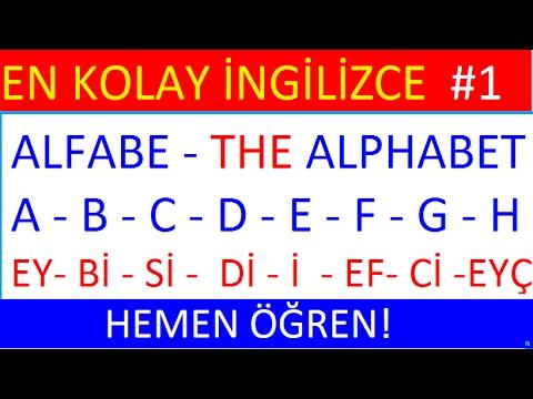 İngiliz alfabesi - İngilizce Alfabe -The English alphabet- Kodlama(Spelling)- 1. DERS