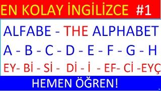 İngiliz alfabesi - İngilizce Alfabe -  The English alphabet- Kodlama  (Spelling)- 1. DERS