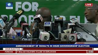Collation Of Results For Osun Governorship Supplementary Election Pt.1