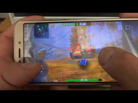 Игровые возможности смартфона Vertex Impress Vira на примере WoT Blitz.