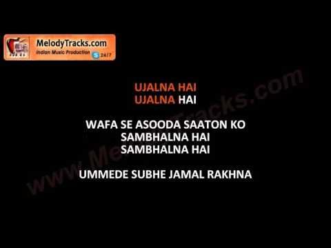 Naye dino ki musafton   Kayal Rakhna   VIDEO Karaoke   Alamgir   Pakistani