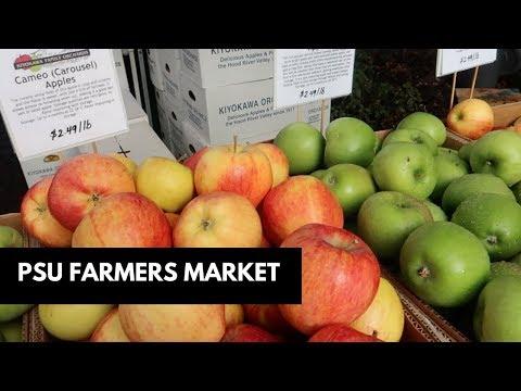 Portland State University Farmers Market - Saturday Vlog | Diana Kitsune