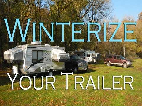 How to winterize a travel trailer or RV water system