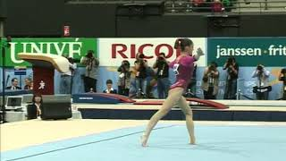 Aliya Mustafina (RUS) Floor Team Qualifications 2010 Rotterdam World Championships
