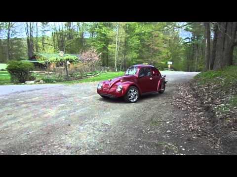 The Japanese Beetle- a single seat, fiberglass bodied, Honda Goldwing GL1500 powered reverse trike