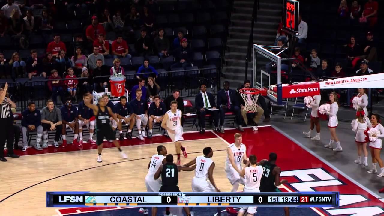 Liberty Men's Basketball vs Coastal: Game Recap - YouTube
