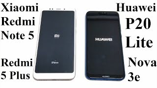Huawei P20 Lite (Nova 3e) vs Xiaomi Redmi Note 5 / 5 Plus - SPEED TEST