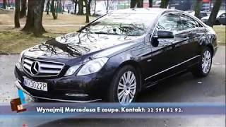 For rent from Warsaw. Its our Mercedes E coupe 250 Blue Effecity