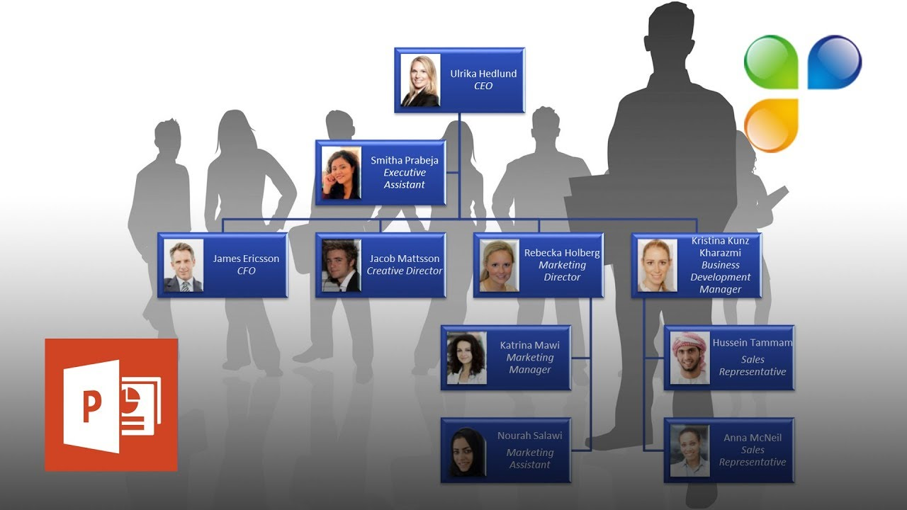 How to create an org chart in powerpoint also youtube rh