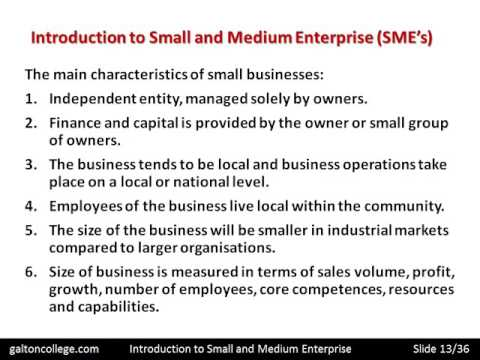 R4201A  Introduction to Small and Medium Enterprise
