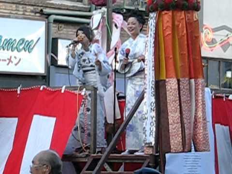 Live singing girls at Nisei Week Japanese Festival. Japanese American singers