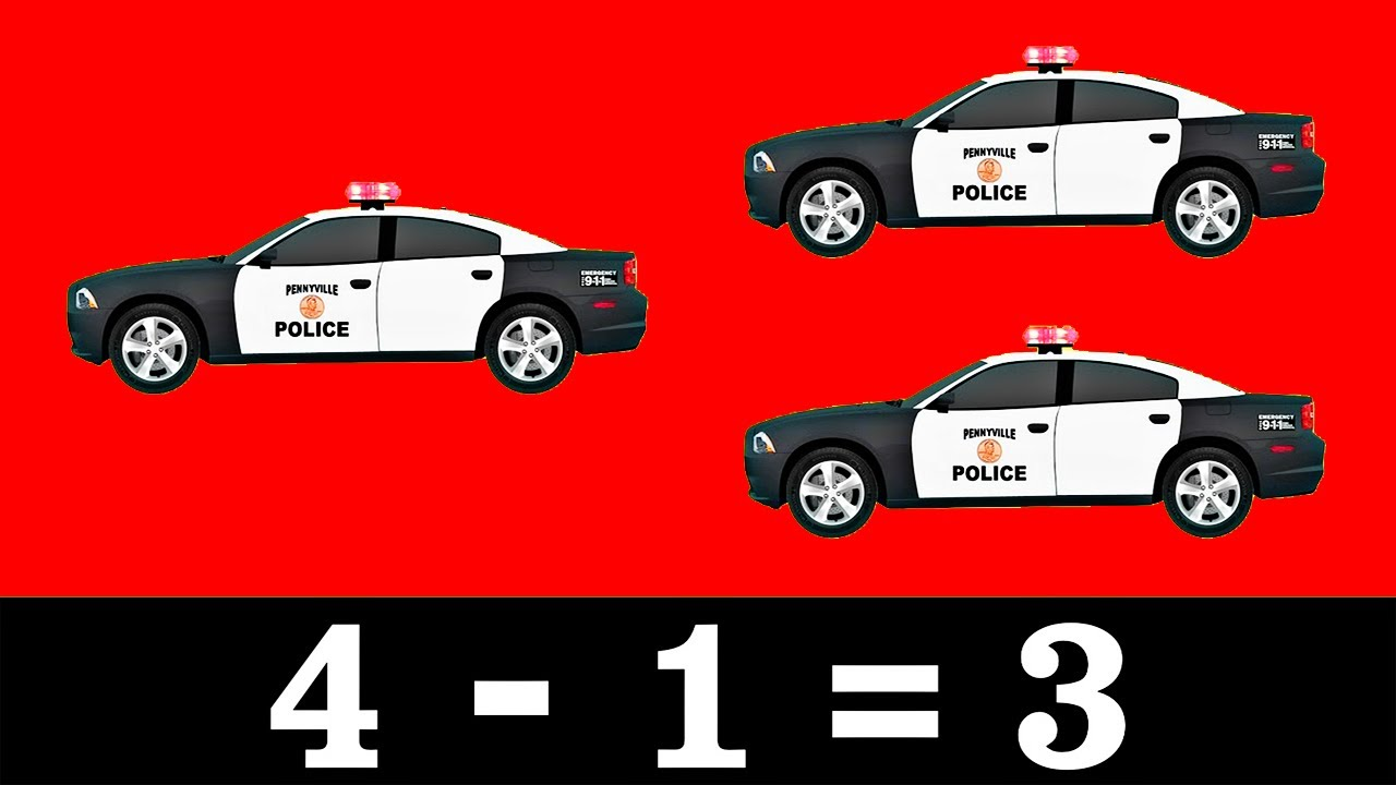 Street Vehicle Math - Lesson 2: Subtraction - Organic Learning for Kids