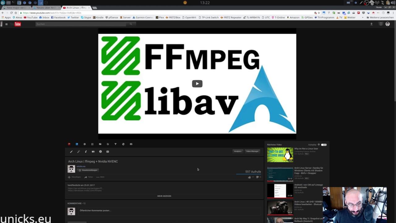 Arch Linux   mpv oder obs starten nicht - Nvidia ffmpeg NVENC