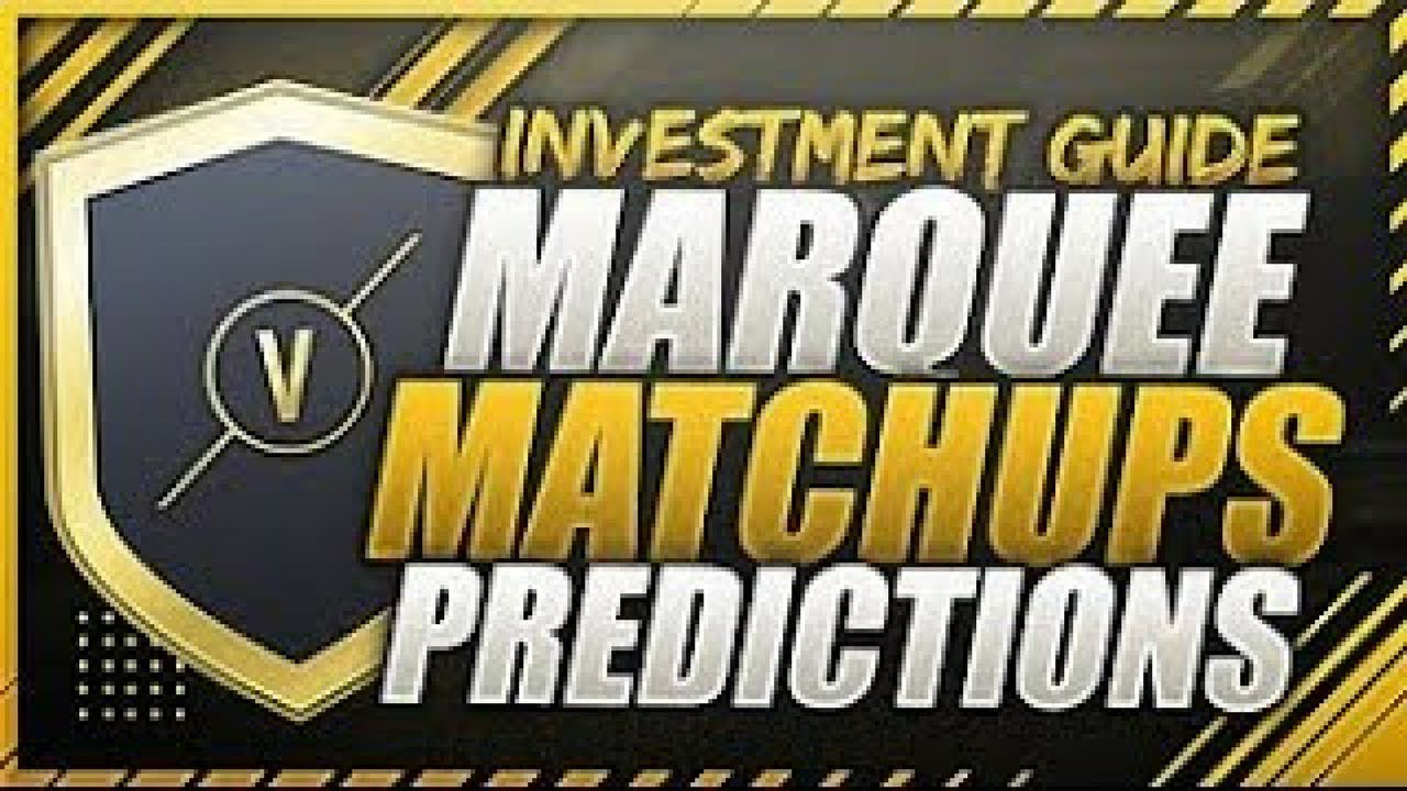 Marquee Matchups Prediction