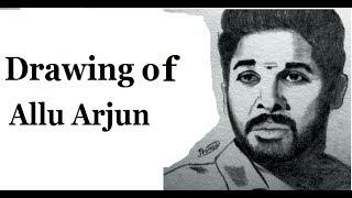 Drawing of Allu Arjun sketch / DJ