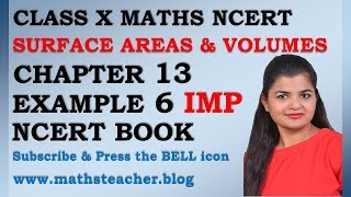 Chapter 13 Surface Areas and Volumes Example 6 Class 10 Maths NCERT