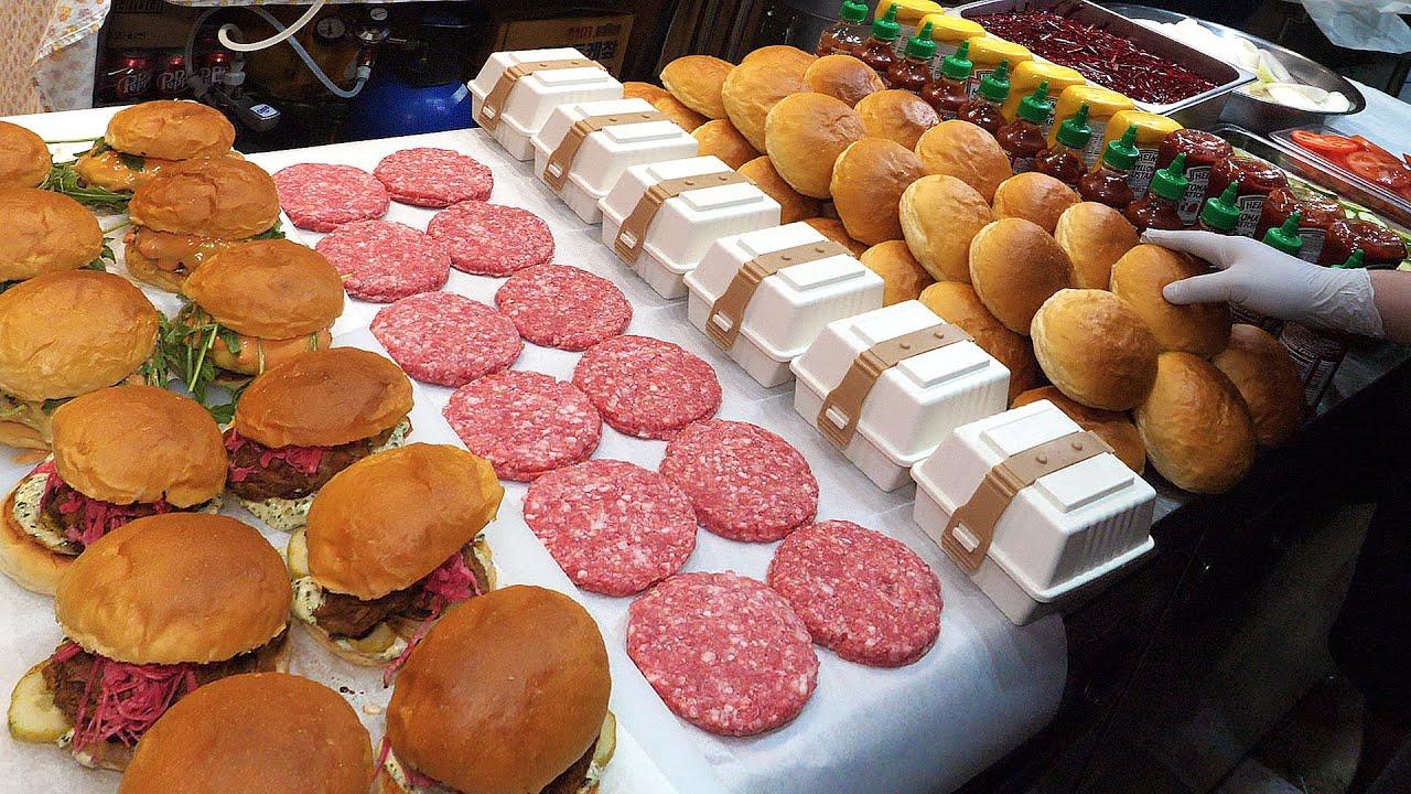 엄청난 정성! 제대로 만드는 수제 찐버거(풀드포크.치즈소고기)/ Wonderful Homemade Burger (pulled pork , cheese beef)