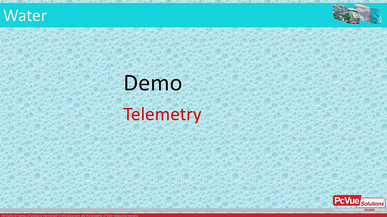 #PcVue mastering #WATER #TELEMETRY